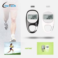 active tracker - Outdoor Sports D Pedometer Carabiner LCD Display Step Calorie Counter Walking Motion Tracker Run Distance day Active Memory