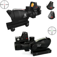 Rifle Scopes adjust brightness - 2016 Newest Model Trijicon TA31 ACOG Style X32 Real Fiber Source Duel Illuminated Sight Scope RMR Micro Red Brightness Adjusted