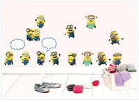 Wholesale High quality New Design Despicable Me Minion Wall Sticker Removable Home Decor Decals Sticker Art Kids Nursery Loving Gift minions stick