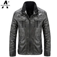 ag coat - Fall Man PU Leather Jackets Vintage Winter Thicken Leather Suede Outwear Windbreaker Leather Trench Coat and Jacket AG SSGB