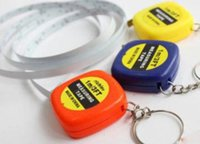 Wholesale DHL FREE measure tapes Mini M Tape Measure keychain keychains Steel Ruler Portable Pulling Rulers With Key Chain rings christmas gift