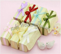 Wholesale sets Love Birds Salt and Pepper Shaker with Colorful Ribbons Wedding Favors Anniversary Giveaways set of