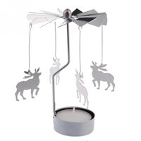 Wholesale 2015 Hot sales Revolving door Windmill Rotation Candlestick Candleholder Candle Tea Light Holder Christmas holiday gift