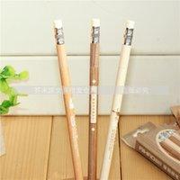 Wholesale Stationery unisex pen erasable pen wood shape refill erasable unisex pen