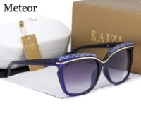 artificial sight - 100 High Quality Market Monopoly Sunglasses Women Brand Designer Luxury Artificial Crystal shine CR39 Gradient Lens Glasses