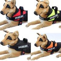 Собаководство Цены-2016 Светоотражающие JULIUS Полиция K9 собак шлейки Pet в тренировочном жилет с быстрой рукояткой управления для малых Meduim собак крупных пород Зеленый R