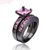 Wholesale 8PCS Hot couple rings Korean fashion female models ring the combination of high quality zircon inlaid with platinum jewelry gift