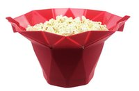 Wholesale New Explosions DIY Microwave Popcorn Silicone Bowl Corn Popper Maker Tool kitchen accessories dessert tools