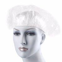 Wholesale set Hair Salon Disposable Plastic Vinyl Clear Spa Home hair bath cap Shower Bathing Elastic Cap