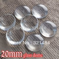 Wholesale bulk piece mm flatback round clear glass cabochon tray pendant cover glass dome tile seals