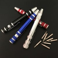 Wholesale Multifuction In Pocket Pen Shaped Screwdriver Set with Slotted Torx Hex Heads Portable Precision Phillips Screw Drivers DIY Ecig Tools