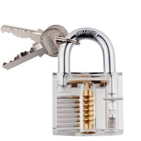 Wholesale DHL Professional Cutaway Inside View of Practice Cadeado Padlocks Lock Pick Lock Training Trainer Pick for Locksmith with Two Keys
