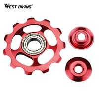 Wholesale MTB Bike Bicycle T Rear Bicycle Derailleur Pulley Jockey Wheel Aluminum Alloy Cycling Guide Roller Idler Pulley Accessories