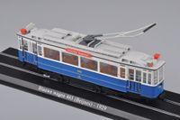 atlas autos - New Scale Model Train Atlas Tram Blauwe Wagen Beijnes Diecast Tram Model Auto Train Toys Collection Gift F