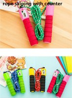 Wholesale kids toy skipping rope for children and adult jump rope hemp rope rubber with counter for match jumping rope shipment
