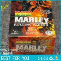 Wholesale 50booklets box BOB Marley pure hemp smoking rolling paper size mm mm leaves booklet health Cigarette Rolling Paper