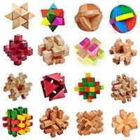 Wholesale 1Set Traditional Wooden Brain Teaser D Puzzle Intelligence Ming Luban Locks Old China Ancestral Locks Educational Toys K5BO