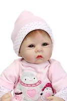 """Cheap 22"""" silicone reborn baby dolls toys real reborn babies bonecas high quality children play house toys"""