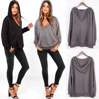 belt s sale - Hoodies Hot Sale In Sweater S XL Two Color Cotton Blend Hooded Jacket V Neck Belt Long Sleeve