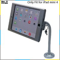 aluminium gooseneck - tablet pc display flexible gooseneck wall mount holder stand for iPad mini security safe locked metal box foothold support arm