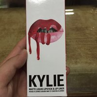 Wholesale 2016 Lipgloss Kylie Lip Kit by kylie Jenner Lipsticks With Lip Gloss Liquid Matte Lasting Makeup Lip Liner Brand kylie lip gloss colors