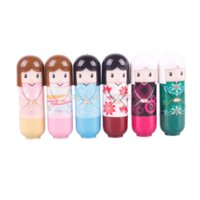 Wholesale Fashion Balsamo Labial Doll Lip Balm Lovely Fruit Nature Cute Baby Girl Lip Balm Lipstick Nourishing Moisturizing