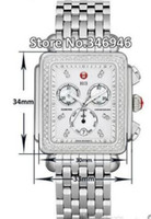 michele watch - Luxury watches Stainless steel bracelet Michele Deco Diamond Chronograph Day Date Fully Function Quartz Watch Fashion Women s Dress Watches