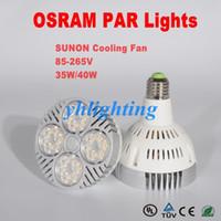 Wholesale 150pcs OSRAM PAR Bulbs W W PAR38 PAR30 UL PAR Lights LED Bulbs Lights k K SUNON Cooling Fan V DHL