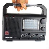 Wholesale DEGEN DE393 Radio FM MW SW Shortwave Radio Multiband World Band Receiver with Reading Lamp Compass Y4184A