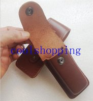 Wholesale knife cutter sheath cow leather scabbard holster highgrade professional gift pocket tool outdoor camp hike army