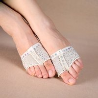 Wholesale Sequins Heel Protector Professional Ballet Dance Socks Pair Belly Dancing Foot thong Toe Pad Belly Dance Accessories