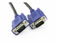 Wholesale 3m PIN VGA HDB15 SUPER VGA Male To Male Connector Cable Extension Monitor FOR PC TV