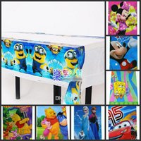 Wholesale New Arrival Kids Birthday Xmas Party Decoration inch PVC Table Cloth Styles Cartoon Styles Tablecloth Supplies Mix Order