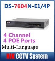 Wholesale Hikvision DS N E1 P CH NVR Recorder for IP Camera System up to MP Resoultion P2P Onvif Recorder Multi language