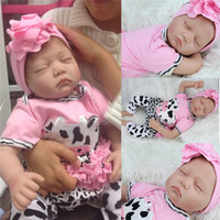 silicone baby dolls - Cute simulation inches lifelike reborn soft silicone vinyl real touch doll newborn Reborn Baby Dolls Toys Kids Women Christmas Gifts