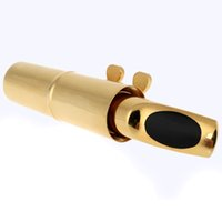 Wholesale High Quality Alto Saxophone Mouthpiece C for Sax Playing the Jazz Music Alto Sax Mouthpiece Gold Plated Metal Design