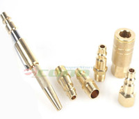 air tool coupler - Adjustable Pocket Blow Gun pc Solid Brass Air Quick Connect Coupler Set with less wear tear on tools fittings