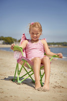 baby beach chair - Children Butterfly Chair Baby Seat Children Chair Outdoor Beach Camper RV Kids Bella Butterfly Fold Chair Sit Cup Holder Furniture