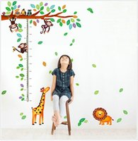 Cheap Free shipping high quality Creative Fashion DIY PVC Waterproof Wall Height Sticker for Kids Bedroom