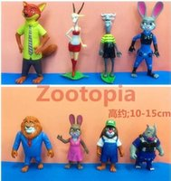 Wholesale DHL design Zootopia Crazy animal City toys new Children cartoon Nick Wilde Judy Hopps PVC minifigures toys Dolls