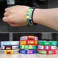 Wholesale 2016 French European Cup Mascot Cuff Bracelets Fans Souvenirs Promotional Gifts Champions League Football Nylon Weaving Charm Bracelets