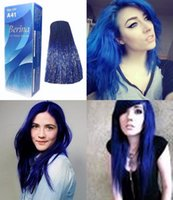 berina hair dye - BERINA PROFESSIONALS Hair Color Cream Permanent Hair Dye Color A41 Blue