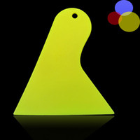 Wholesale Yellow Plastic Small Scraper Car Film Tools Wiper Plate glass Car Sticker Tools Film Scraper Car Accessories