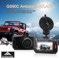 Wholesale car dvd GS90C Ambarella A7LA70 Full HD2 LCD Car DVR G Sensor Night Vision GPS Degree Wide Angle Vehicle Recorder In Dash Camera