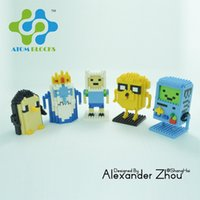 achat en gros de figurines de temps d'aventure-Nouveau modèle de dessin animé Mini Qute ATOM Adventure Time Finn Jack Le Ice King Building Block Éducatif Action Figure DIY Brick Toys