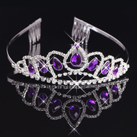 Wholesale Bridal Tiaras Wtih Rhinestones Crowns Bridal Jewelry Girls Evening Prom Party Performance Pageant Crystal Wedding Tiaras BW T009