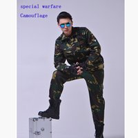 Wholesale Jungle camouflage suit male summer special forces training uniform jobs clothing hunting clothes outdoor sports