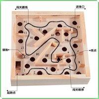 balance beams - Mini Wooden Maze task Toys cm Family Board Ball Balance Beam Games Wooden Maze Intellectual Children s Educational Toys