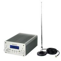 achat en gros de des antennes d'alimentation universels-Station stéréo 5W / 15W PLL FM Transmetteur Mini Radio Bluetooth Diffusion sans fil + Power + Antenne Y4338D