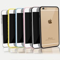 acrylic dust covers - Ultra Thin TPU Acrylic Hard Back With Dust Plug Transparent Clear Protective Cover Case For iPhone SE S S plus inch MOQ